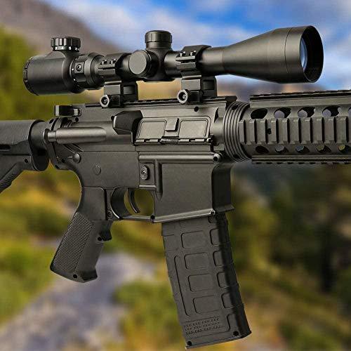 QILU Rifle Scope 6 QILU 3-9x40 Rangefinder Red & Green Illuminated Reticle Optics Hunting Scope 1 Inch Tube