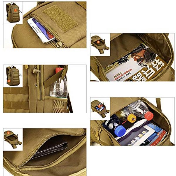 CREATOR Tactical Backpack 7 12L Tactical Backpack MOLLE Military Daypack Travel Bag for Hunting