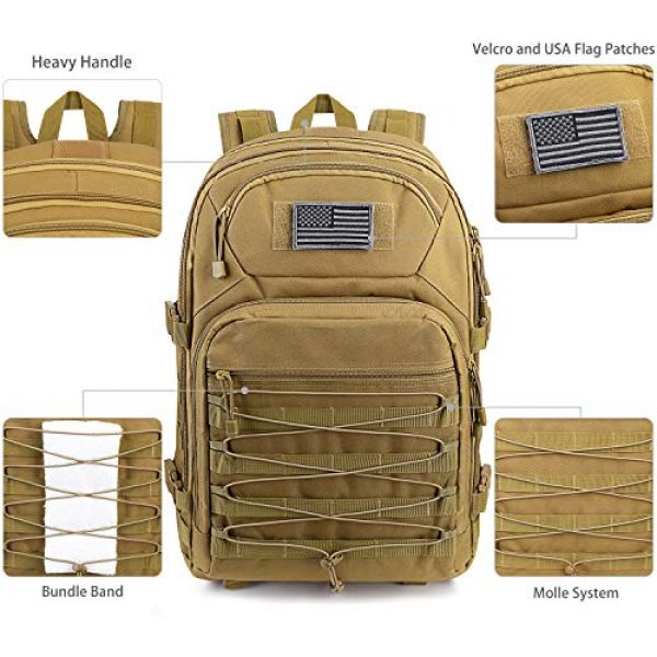 G4Free Tactical Backpack 4 G4Free Expandable Tactical Backpack Military Shoulder Pack 45L-50L Army Molle 3 Day Assault Rucksack