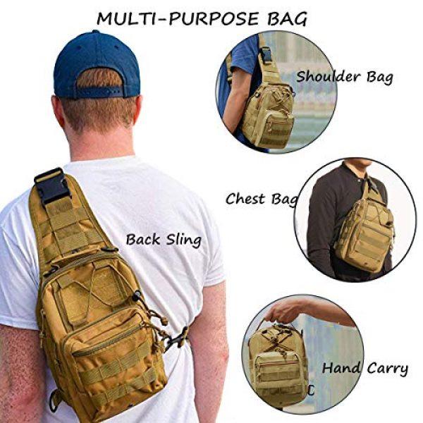 "LBlanco Tactical Backpack 5 LBlanco Tactical Shoulder Sling Bag Small Outdoor Chest Pack for Men Traveling, Trekking, Camping, Rover Sling Daypack """