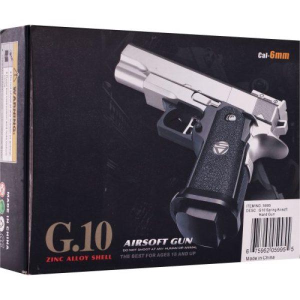 Whetstone Airsoft Pistol 2 Whetstone G.10 Zinc Alloy Shell Airsoft Pistol, Black