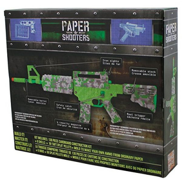 Paper Shooters Air Rifle 3 Paper Shooters Lime Green Spitball Blaster Kit air rifle