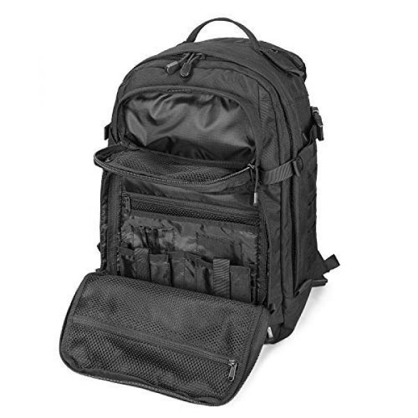 Scudo Tactical Tactical Backpack 4 SCUDO TACTICAL VERTICE 24 Military Backpack with 3L Hydration Bag / Insulated Hydration Pocket (Black, 37L)