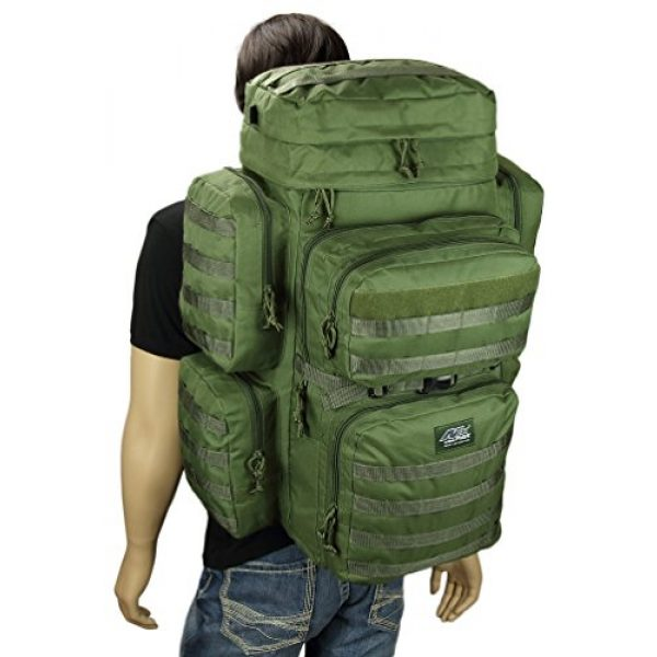 NPUSA Tactical Backpack 4 Mens 26 Inch Large Military Tactical Gear Molle Hydration Ready Hiking Backpack Bag + Sunglasses
