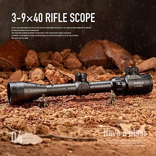 Pinty Rifle Scope 2 Pinty 3-9X40 Red Green Rangefinder Illuminated Optical Rifle Scope