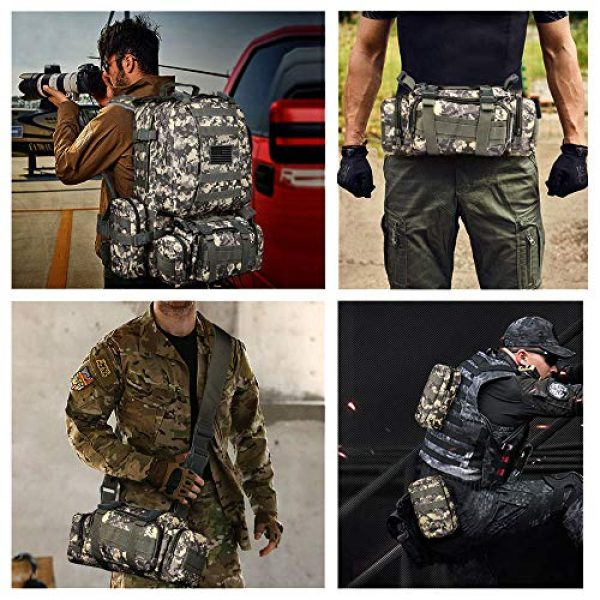 CVLIFE Tactical Backpack 7 CVLIFE Tactical Backpack Military Army Rucksack Assault Pack Built-up Molle Bag