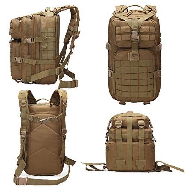 Suoki Tactical Backpack 3 Molle Assault Pack 45L Military Tactical Backpack 3 Day Pack Bag Survival Rucksack