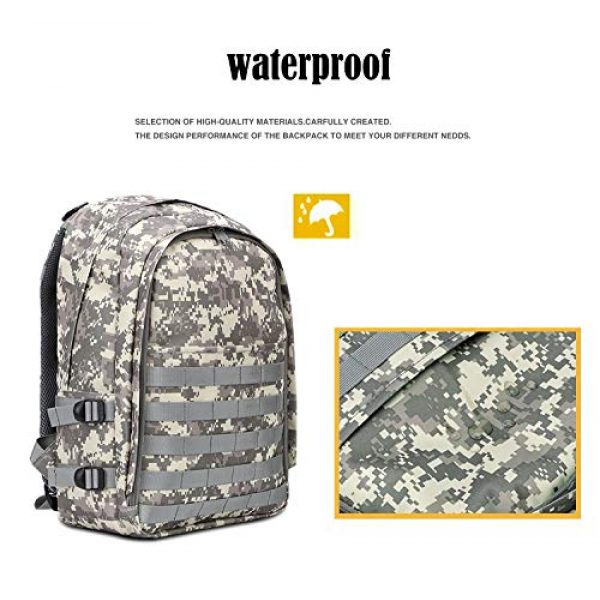 Snugtown Tactical Backpack 4 Level 3 Backpack, Waterproof Camouflage Laptop Backpack, Military Tactical Assault Backpack Rucksack Molle Daypack for Hiking, Climbing, Camping (Camouflage Dusty)