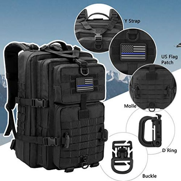 Hannibal Tactical Tactical Backpack 4 Hannibal Tactical MOLLE Assault Pack, Tactical Backpack Military Army Camping Rucksack, 3-Day Pack