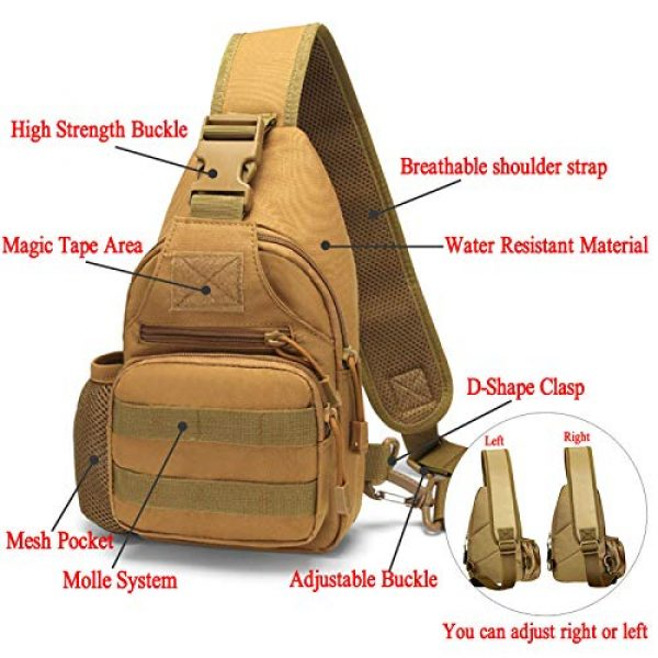 Ydmpro Tactical Backpack 3 Ydmpro Tactical Sling Bag, Chest Pack Molle Daypack Military Crossbody Shoulder Bags
