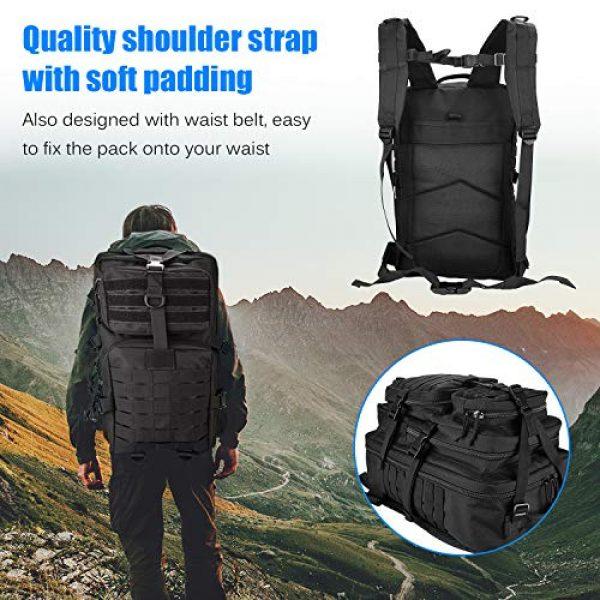 ProCase Tactical Backpack 7 ProCase Military Tactical Backpack, 48L Large Rucksack 3 Day Outdoor Army Assault Molle Pack Go Bag Backpacks -Black