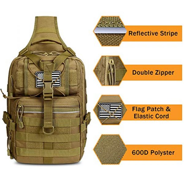 G4Free Tactical Backpack 3 G4Free Tactical Sling Backpack Big Molle EDC Assault Range Bag Pack Military Style for Concealed Carry