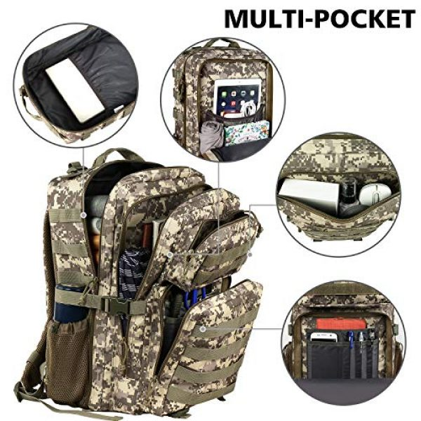 YOREPEK Tactical Backpack 2 Military Tactical Backpack 42L Large Army Rucksack 3 Day Assualt Pack Molle Bag