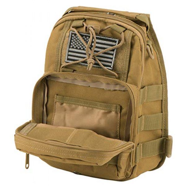 Luckin Packin Tactical Backpack 5 Luckin Packin Tactical Sling Bag,Military Rover Shoulder Sling Backpack,Tactical Sling Pack