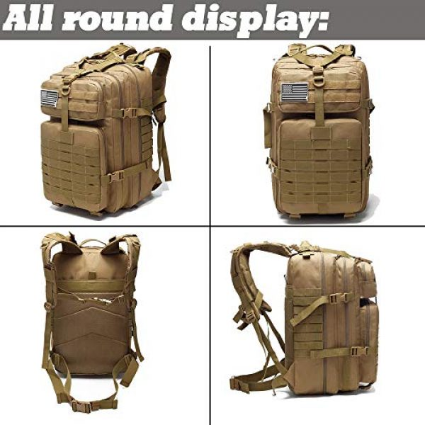 Novemkada Tactical Backpack 5 Tactical Backpack - 1000D Military Molle Army 3 Day Assault Pack Backpacks 40L