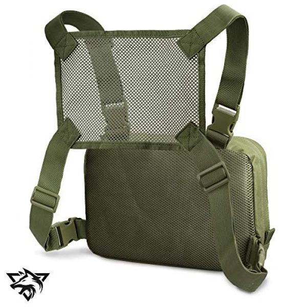 WYNEX Tactical Backpack 4 WYNEX Tactical Chest Rig Bag, Recon Kit Bags Combat EDC Front Pouch for Wargame