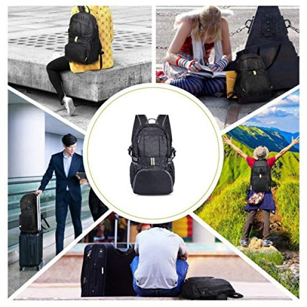 Surcotto Tactical Backpack 7 Surcotto Hiking Backpack, Foldable Water Resistant Daypack Packable Laptop Backpack Outdoor Camping