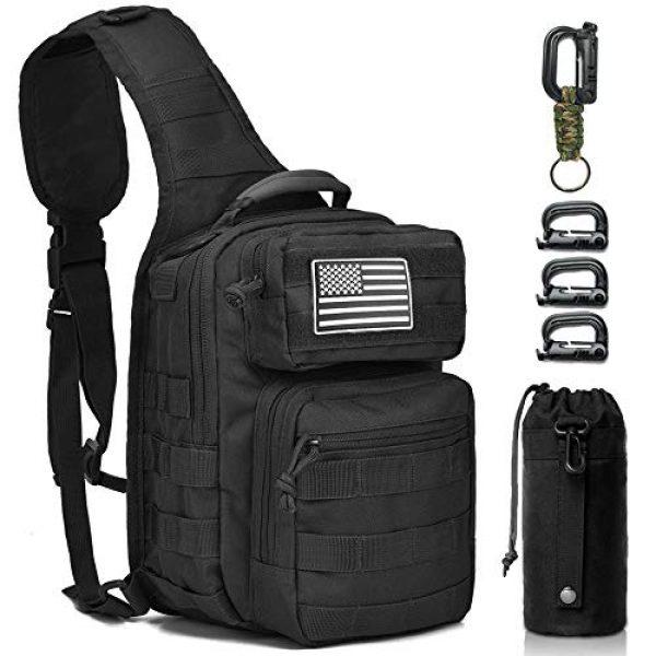 Monoki Tactical Backpack 1 Monoki Tactical Sling Backpack, Military Rover Shoulder Sling Bag Pack, Molle Assault Range Bag Day Pack