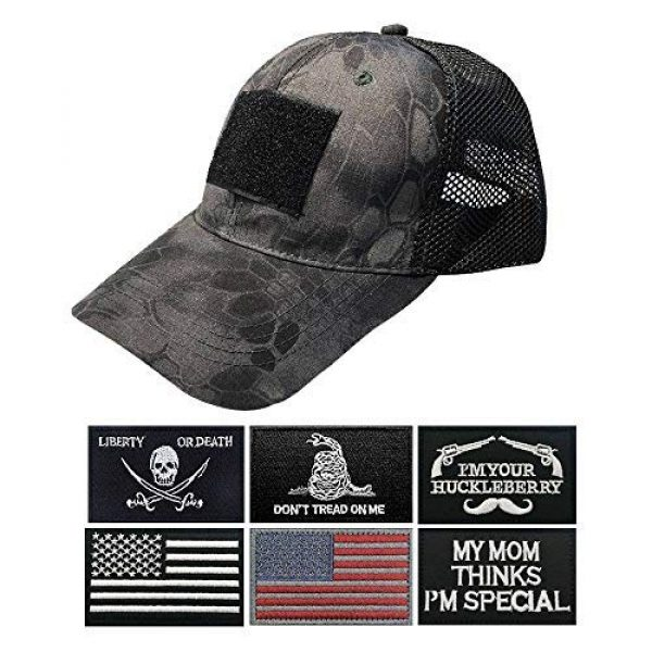 Uphily Tactical Hat 1 Uphily Military Patch Hat, Operator Cap, Tactical Army Hats for Men