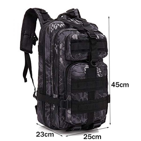 VONAXO Tactical Backpack 2 VONAXO Military Tactical Backpack 30 Liters Army Molle Outdoor Hiking Hunting Rucksack Backpack