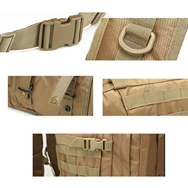 Suoki Tactical Backpack 5 Tactical Backpack 55L with Built-up 3 MOLLE Bags Rucksacks for Travelling