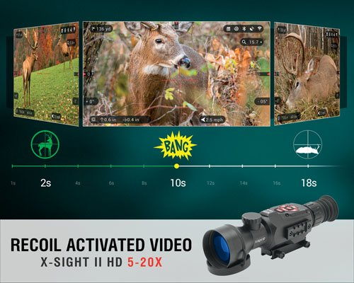 ATN Rifle Scope 6 ATN X-Sight II HD 5-20 Smart Day/Night Rifle Scope w/1080p Video, Ballistic Calculator, Rangefinder, WiFi, E-Compass, GPS, Barometer, IOS & Android Apps