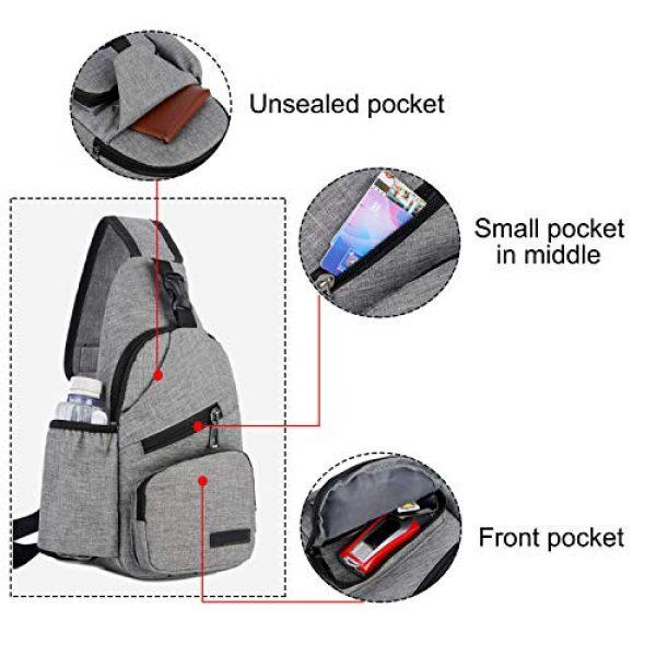 ChangYou Tactical Backpack 2 ChangYou Sling Bag Chest Backpack with USB Charging Port Polyester Shoulder Bag for Outdoor Sports Travel