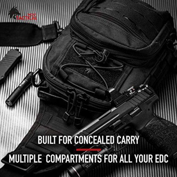 WOLF TACTICAL Tactical Backpack 4 WOLF TACTICAL Compact EDC Sling Bag - Concealed Carry Shoulder Bag for Range, Travel, Hiking, Outdoor Sports