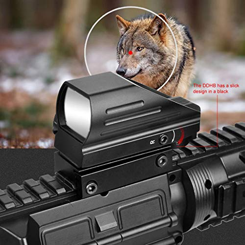 AJDGL Rifle Scope 2 AJDGL 1x22x33mm Tactical Red Dot Sight- Optical Holographic Scope with 4 Reticles Patterns Adjustable Brightness for Shooting Hunting