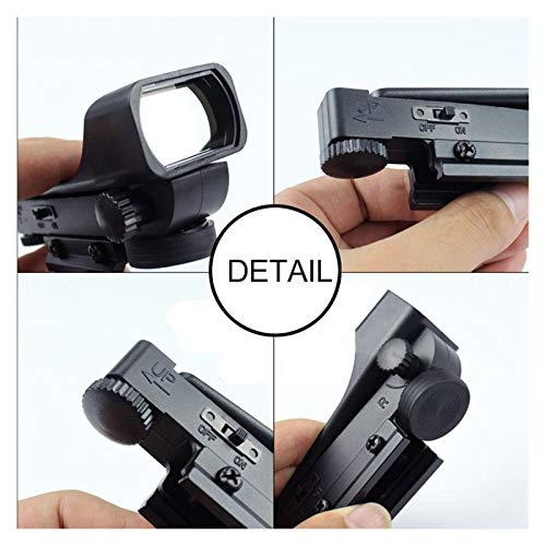 Without Rifle Scope 6 Toy Gun Sight Red dot Sight Magnification 11mm red Green dot Sight Hunting Holographic Shotgun Rail Mounted Mirror fit (Color : 1pc 11mm)