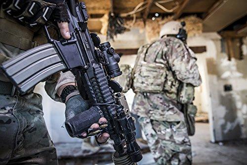 Trijicon Rifle Scope 6 Trijicon MRO-C-2200017 1x25mm Patrol Riflescope with Miniature Rifle Optic (Mro), 2.0 MOA Adjustable Red Dot Reticle (Without Mount), Black