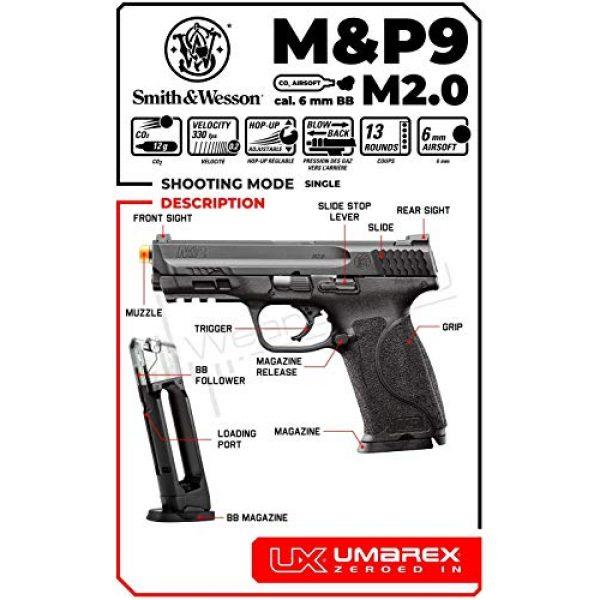 M&P9 Airsoft Pistol 2 Umarex S&W M&P9 M2.0 C02 Blowback Black Airsoft BB Pistol
