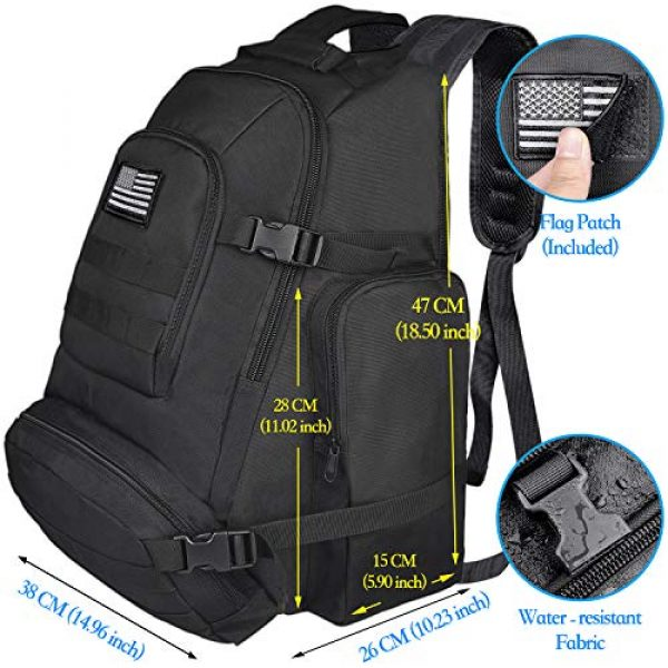 NOOLA Tactical Backpack 6 NOOLA Tactical Military Backpack Army 3 Day Assault Pack Large Rucksack Molle Bag