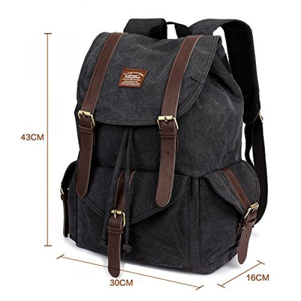KAUKKO Tactical Backpack 2 Vintage Canvas Backpack Kaukko Outdoor Travel Hiking Rucksack School Bookbags
