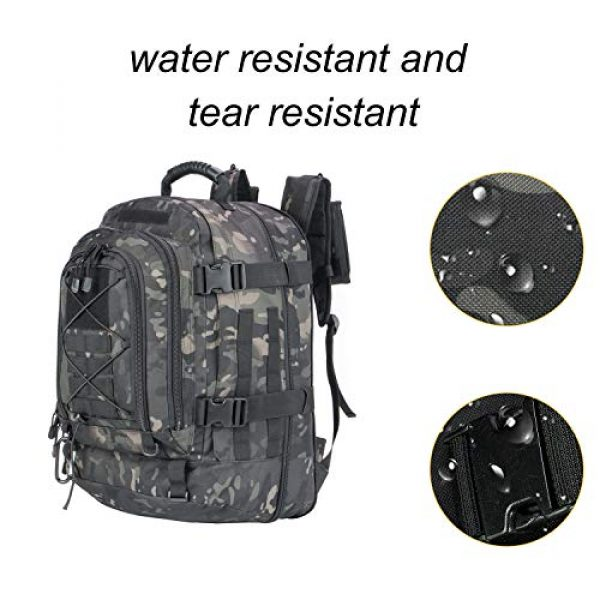 XWL SPORTS Tactical Backpack 6 XWL SPORTS Military Tactical Assault Backpack Tactical Sling Bag Pack for Outdoor Hiking Camping Hunting School Etc (Black Multicam)