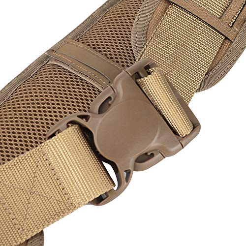 Huenco Tactical Belt 3 Padded Patrol Belt Tactical Molle Battle Belt Adjustable Hunting Waist Patrol Belts Combat Gear