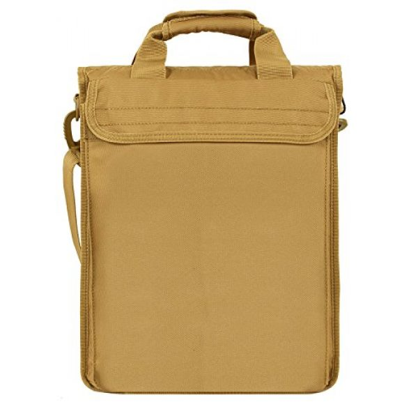 "Seibertron Tactical Backpack 4 Seibertron Expandable 14"" Laptop Waterproof Messenger Bag Multiple Pockets & Compartments Carry as Messenger Bags Khaki"