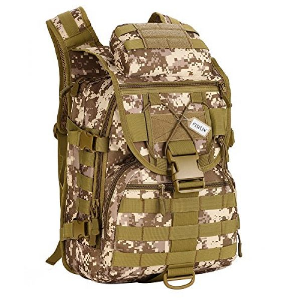 Pisfun Tactical Backpack 1 Pisfun Tactical Backpack 40L Camping Bags Waterproof Molle System Backpack Military 3P Tad Assault Travel Bag for Men Cordura