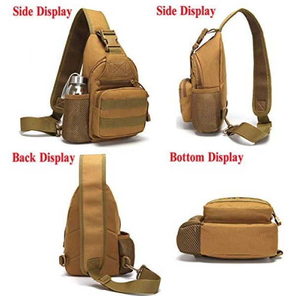 Ydmpro Tactical Backpack 6 Ydmpro Tactical Sling Bag, Chest Pack Molle Daypack Military Crossbody Shoulder Bags