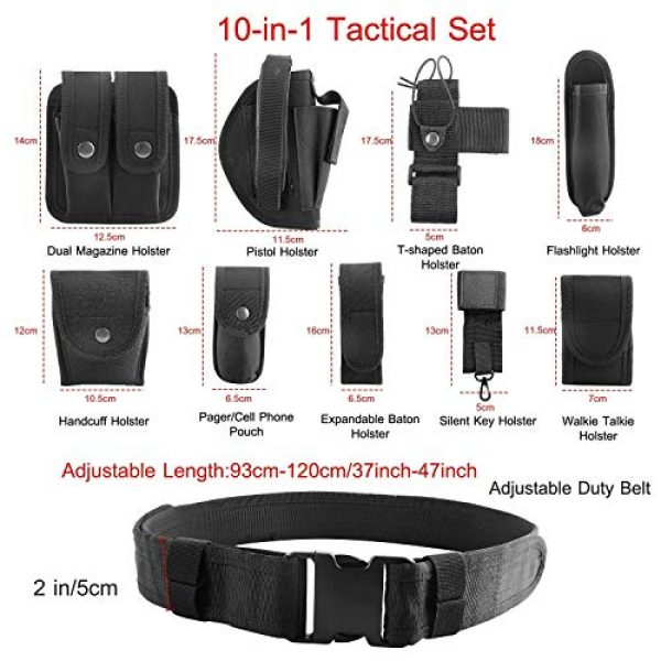 adit_to Tactical Pouch 4 adit_to 1 Pcs Police Security Guard Modular Enforcement Equipment Duty Belt Tactical 800 Nylon