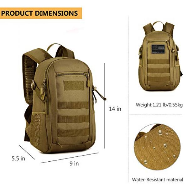ArcEnCiel Tactical Backpack 3 ArcEnCiel Small Tactical Backpack Military MOLLE Daypack Gear Assault Pack School Camping Bag
