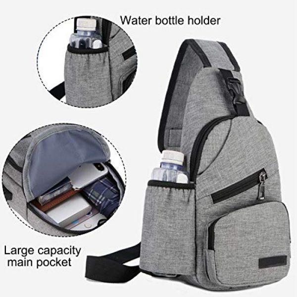ChangYou Tactical Backpack 3 ChangYou Sling Bag Chest Backpack with USB Charging Port Polyester Shoulder Bag for Outdoor Sports Travel
