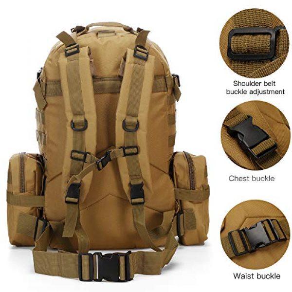 N/O Tactical Backpack 4 Camping Backpack for Men 55L Detachable Hiking Daypacks Travel Rucksack 3 day Pack