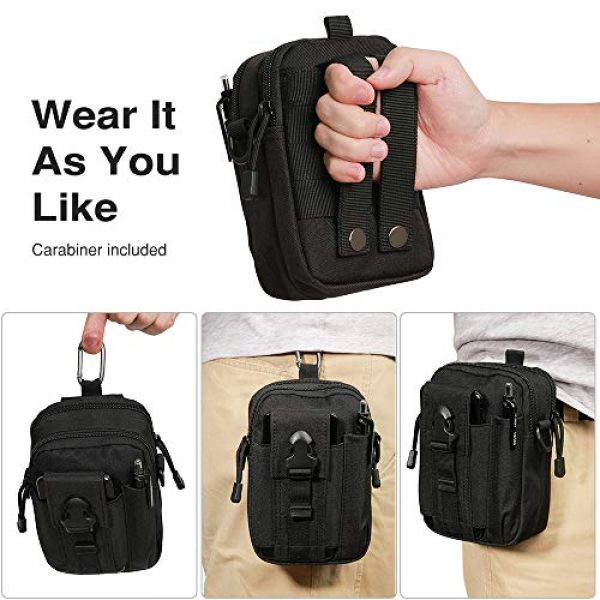 Camyse Tactical Backpack 3 Camyse Outdoor Tactical Waist Bag EDC Molle Belt Waist Pouch Security Purse Phone Carrying Case for iPhone 8 Plus Galaxy Note 9 S9 Or Less Than 6.2 inches Smartphone