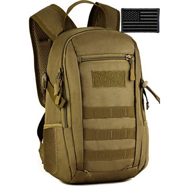 Protector Plus Tactical Backpack 1 Protector Plus Small Tactical Backpack Military School Daypack Army Assault Pack Bug Out Bag Cycling Hiking Camping Rucksack (Patch Included)