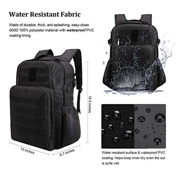 TAIBID Tactical Backpack 3 TAIBID Military Tactical Backpack Water Resistant Large Army 3 Day Assault Pack Outdoors