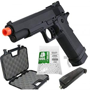 SRC Airsoft Pistol 1 HI-CAPA 5.1 Green Gas Airsoft Pistol Free Speed Loader BBS and Gun Case [Airsoft Blowback]