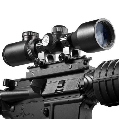 BARSKA Rifle Scope 5 BARSKA 3-9x42 IR Contour Dual Color Reticle 30/30 IR Riflescope