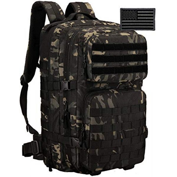 Protector Plus Tactical Backpack 1 Protector Plus Tactical Backpack MOLLE Military Assault 3 Daypack Army Pack Bug Out Bag (Rain Cover & Patch Included)