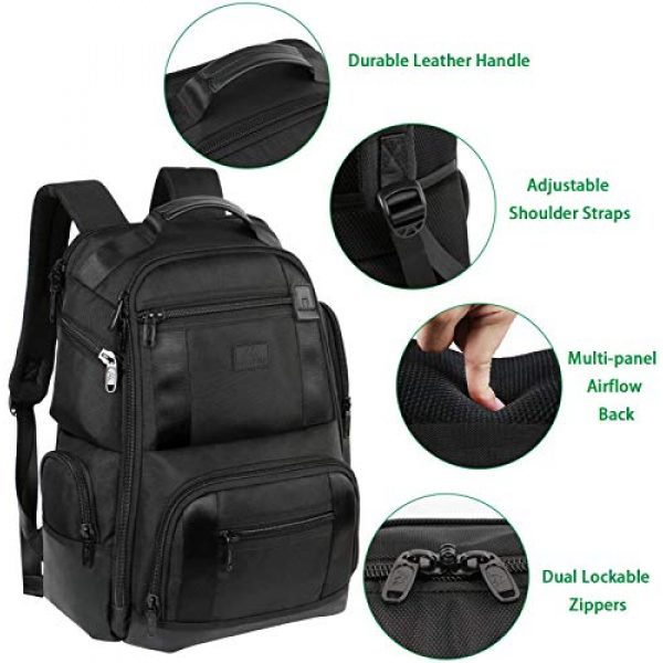 MATEIN Tactical Backpack 4 Laptop Backpack,17 Inch Travel Laptop Backpack for Men Women,Professional Business Carry on Backpack for Notebook, Large Backpack Tsa Friendly Water Resistant High School College Computer Bag, Black